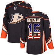 Wholesale Cheap Adidas Ducks #15 Ryan Getzlaf Black Home Authentic USA Flag Stitched NHL Jersey