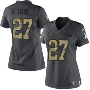Wholesale Cheap Nike Texans #27 Jose Altuve Black Women's Stitched NFL Limited 2016 Salute to Service Jersey