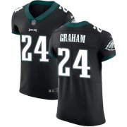 Wholesale Cheap Nike Eagles #24 Corey Graham Black Alternate Men's Stitched NFL Vapor Untouchable Elite Jersey
