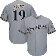 Wholesale Cheap Brewers #19 Robin Yount Grey Cool Base Stitched Youth MLB Jersey