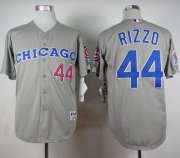 Wholesale Cheap Cubs #44 Anthony Rizzo Grey 1990 Turn Back The Clock Stitched MLB Jersey