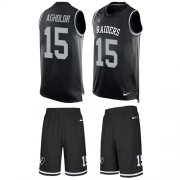 Wholesale Cheap Nike Raiders #15 Nelson Agholor Black Team Color Men's Stitched NFL Limited Tank Top Suit Jersey