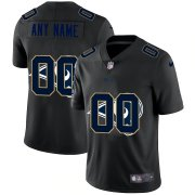 Wholesale Cheap Los Angeles Rams Custom Men's Nike Team Logo Dual Overlap Limited NFL Jersey Black