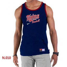 Wholesale Cheap Men\'s Nike Minnesota Twins Home Practice Tank Top Blue