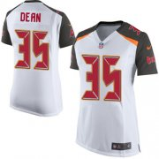 Wholesale Cheap Nike Buccaneers #35 Jamel Dean White Women's Stitched NFL New Elite Jersey