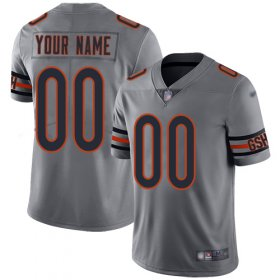 Wholesale Cheap Nike Chicago Bears Customized Silver Men\'s Stitched NFL Limited Inverted Legend Jersey