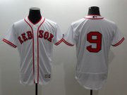 Wholesale Cheap Red Sox #9 Ted Williams White Flexbase Authentic Collection Cooperstown Stitched MLB Jersey