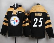 Wholesale Cheap Nike Steelers #25 Artie Burns Black Player Pullover NFL Hoodie