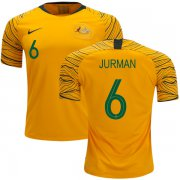 Wholesale Cheap Australia #6 Jurman Home Soccer Country Jersey
