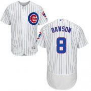 Wholesale Cheap Cubs #8 Andre Dawson White(Blue Strip) Flexbase Authentic Collection Stitched MLB Jersey