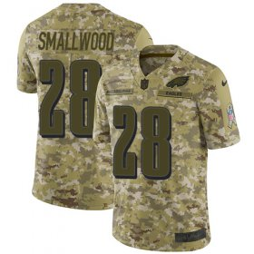 Wholesale Cheap Nike Eagles #28 Wendell Smallwood Camo Men\'s Stitched NFL Limited 2018 Salute To Service Jersey