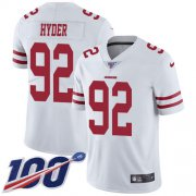 Wholesale Cheap Nike 49ers #92 Kerry Hyder White Youth Stitched NFL 100th Season Vapor Untouchable Limited Jersey