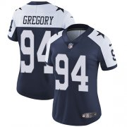 Wholesale Cheap Nike Cowboys #94 Randy Gregory Navy Blue Thanksgiving Women's Stitched NFL Vapor Untouchable Limited Throwback Jersey