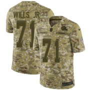 Wholesale Cheap Nike Browns #71 Jedrick Wills JR Camo Men's Stitched NFL Limited 2018 Salute To Service Jersey