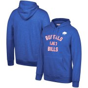Wholesale Cheap Buffalo Bills Mitchell & Ness Team History Pullover Hoodie Blue