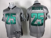 Wholesale Cheap Eagles #25 LeSean McCoy Grey Shadow Stitched NFL Jersey