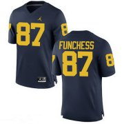 Wholesale Cheap Men's Michigan Wolverines #87 Devin Funchess Navy Blue Stitched College Football Brand Jordan NCAA Jersey