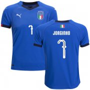 Wholesale Cheap Italy #7 Jorginho Home Kid Soccer Country Jersey