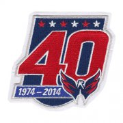 Wholesale Cheap Stitched 2014-15 Washington Capitals 40th Team Anniversary Jersey Patch
