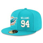 Wholesale Cheap Miami Dolphins #94 Mario Williams Snapback Cap NFL Player Aqua Green with White Number Stitched Hat