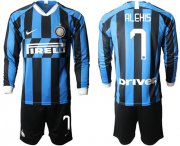 Wholesale Cheap Inter Milan #7 Alexis Home Long Sleeves Soccer Club Jersey