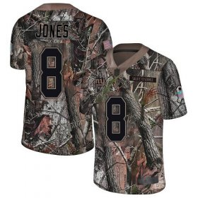 Wholesale Cheap Nike Giants #8 Daniel Jones Camo Men\'s Stitched NFL Limited Rush Realtree Jersey