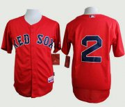 Wholesale Cheap Red Sox #2 Xander Bogaerts Red Cool Base Stitched MLB Jersey
