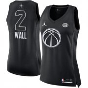 Wholesale Cheap Nike Washington Wizards #2 John Wall Black Women's NBA Jordan Swingman 2018 All-Star Game Jersey