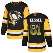 Wholesale Cheap Adidas Penguins #81 Phil Kessel Black Home Authentic Drift Fashion Stitched NHL Jersey