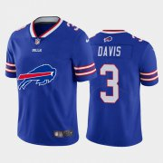 Wholesale Cheap Buffalo Bills #3 Gabriel Davis Royal Blue Men's Nike Big Team Logo Vapor Limited NFL Jersey
