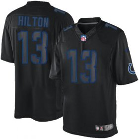 Wholesale Cheap Nike Colts #13 T.Y. Hilton Black Men\'s Stitched NFL Impact Limited Jersey