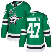 Cheap Adidas Stars #47 Alexander Radulov Green Home Authentic Youth 2020 Stanley Cup Final Stitched NHL Jersey