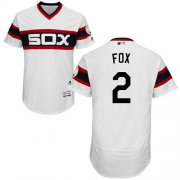 Wholesale Cheap White Sox #2 Nellie Fox White Flexbase Authentic Collection Alternate Home Stitched MLB Jersey