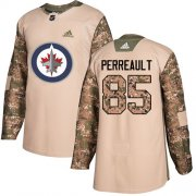 Wholesale Cheap Adidas Jets #85 Mathieu Perreault Camo Authentic 2017 Veterans Day Stitched NHL Jersey