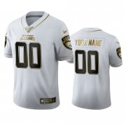 Wholesale Cheap Jacksonville Jaguars Custom Men's Nike White Golden Edition Vapor Limited NFL 100 Jersey