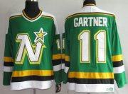 Wholesale Cheap Stars #11 Mike Gartner Stitched Green CCM Throwback NHL Jersey