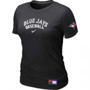 Wholesale Cheap Women's Toronto Blue Jays Nike Short Sleeve Practice MLB T-Shirt Black