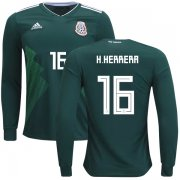 Wholesale Cheap Mexico #16 H.Herrera Home Long Sleeves Kid Soccer Country Jersey