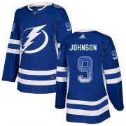 Wholesale Cheap Adidas Lightning #9 Tyler Johnson Blue Home Authentic Drift Fashion Stitched NHL Jersey