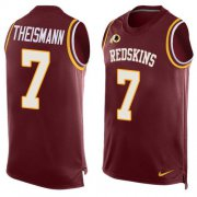 Wholesale Cheap Nike Redskins #7 Joe Theismann Burgundy Red Team Color Men's Stitched NFL Limited Tank Top Jersey