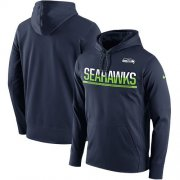Wholesale Cheap Men's Seattle Seahawks Nike College Navy Sideline Circuit Pullover Performance Hoodie