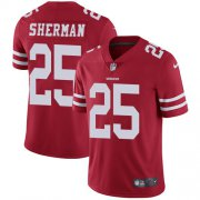 Wholesale Cheap Nike 49ers #25 Richard Sherman Red Team Color Youth Stitched NFL Vapor Untouchable Limited Jersey