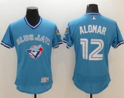 Wholesale Cheap Blue Jays #12 Roberto Alomar Light Blue Flexbase Authentic Collection Cooperstown Stitched MLB Jersey