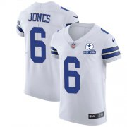 Wholesale Cheap Nike Cowboys #6 Chris Jones White Men's Stitched With Established In 1960 Patch NFL New Elite Jersey