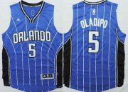 Wholesale Cheap Orlando Magic #5 Victor Oladipo Revolution 30 Swingman 2014 New Blue Jersey