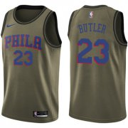 Wholesale Cheap Nike 76ers #23 Jimmy Butler Green NBA Swingman Salute to Service Jersey