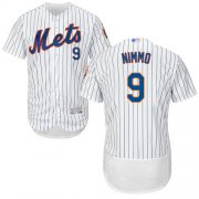 Wholesale Cheap Mets #9 Brandon Nimmo White(Blue Strip) Flexbase Authentic Collection Stitched MLB Jersey