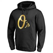 Wholesale Cheap Baltimore Orioles Gold Collection Pullover Hoodie Black