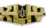 Wholesale Cheap Stitched New Orleans Saints Super Bowl XLIV Gold Jersey Patch