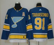 Wholesale Cheap Adidas Blues #91 Vladimir Tarasenko Blue Alternate Authentic Stitched NHL Jersey